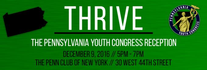 Thrive: Pennsylvania Youth Congress Reception @ The Penn Club | New York | New York | United States