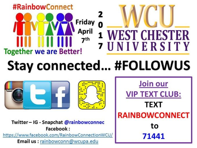Fifth Annual Rainbow Connection Leadership Conference @ West Chester University | West Chester | Pennsylvania | United States