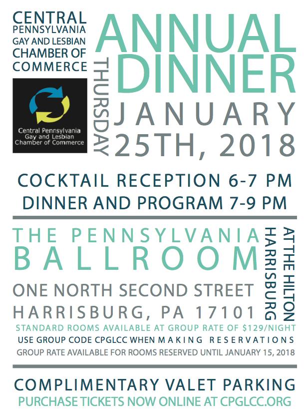CPGLCC: Annual Dinner @ Hilton Harrisburg | Harrisburg | Pennsylvania | United States